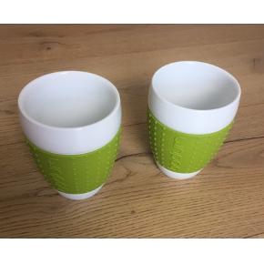 2 stk. Lime grønne kopper fra Bodum, brugt få gange.