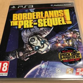 Borderlands the pre-sequel til PS3.Aldrig nået spillet. Fremstår derfor som nyt.