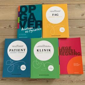 Nye studiebøger til sygeplejerske uddannelsen, 600 for alle 5, normalpris ca. 2000