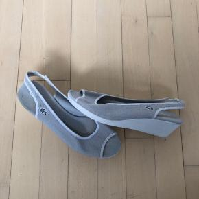 Lacoste  🐊 sandals in light grey.  Run small, ca 24 cm