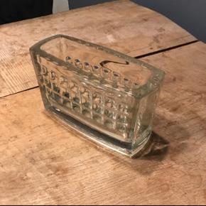 Gammel flot glas vase/beholder