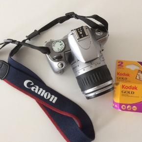 Canon EOS 300v Spejlreflekskamera  Inkl. nye batterier samt to nye Kodak-film.