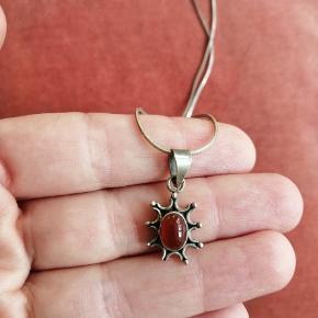 Ægte sølv halskæde med sølv vedhæng