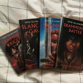 Skammerens datter. De 3 første er hårde.  Kun bog 1 er læst. Alle ser ud som nye. Bog 4 er solgt.