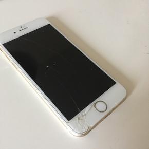 iPhone 6s sælges. Skærmen er gået i stykker, men ellers virker den fint.