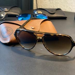 Forskellige Rayban solbriller - Cats 5000 modellen - Justin modellen - Aviator modellen. 500kr pr stk