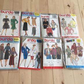 Instruktion til at sy eget tøj. Ældre fine modeller  Burda.