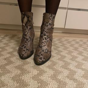 Ægte slangeskindsstøvler 🐍🌺