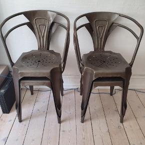 4 stål-stole i god stand Sælges samlet