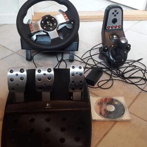 Logitech G27 Racing - sæt med rat, pedaler og håndtag til gearskifte - kabling   Til PS3, PS2 og PC