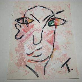 Sælger disse malerier UDEN Ramme. 200 kr. Inklusiv fragt 27 x 36  cm  Følg med på min profil, flere malerier er til salg.   Acryl, olie maling, kul, makeup, mv malet på tykkere papir i A3