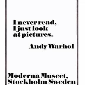Plakat fra Andy Warhol inklusiv sort ramme fra IKEA. Størrelsen er 70x100 cm.