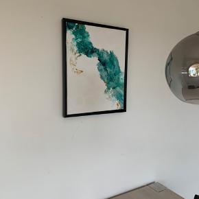 Originalt one of a kind Maleri;)  Malet af mig i denne uge. Blågrønne nuancer. Brugt flowtroll teknik. Moderne abstrakt. Se evt min hjemmeside www.tanjajohansen.dk