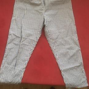 Ternede bukser i bomulds satin