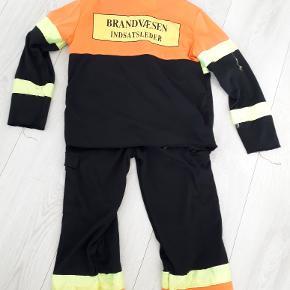Udklædningstøj brandmand str 5-8 år
