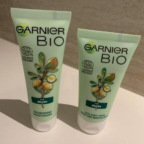 """Garnier bio En facecream til uren hud  Cream til face, BODY og hands til tør hud """"normal pris pr. Stk 90kr"""" Begge produkter er på 50 ML.  Aldrig brugt, ubrugte  Sælges samlet  Afhentes Aarhus eller sendes på købers regning"""