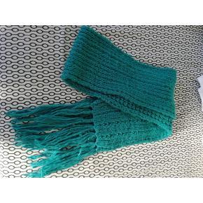 Super long blue woolen scarf