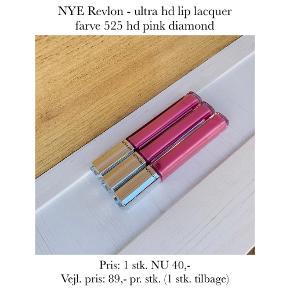 NYE Revlon - ultra hd lip lacquer farve 525 hd pink diamond  Pris: 1 stk. NU 40,-  Vejl. pris: 89,- pr. stk. (1 stk. tilbage)   Se også over 200 andre nye produkter, som jeg har til salg herinde :-)
