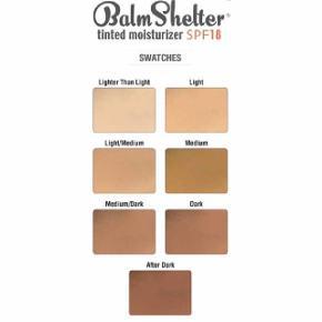 Helt ny ! - farven - After Dark - NETOP NEDSAT FRA 100 KR!  theBalm BalmShelter Tinted Moisturizer SPF 18 er en vægtløs, silkeblød farvet fugtighedscreme, som tilbyder solbeskyttelse til hverdag samtidig med, at du forbedrer udseendet af din hudtone og tekstur og efterlader dig med en fantastisk farve. Denne creme giver en jævn hudtone og forbedrer hudens overflade. Den er perfekt som underlag til pudder, eller til anden ansigts make-up, f.eks. Sexy Mama fra theBalm. Holder huden fugtet og giver et raffineret udseende. Til alle hudtyper.  Fordele:  Vægtløs, silkeblød farvet fugtighedscreme Forbedrer udseendet af din hudtone og -tekstur Efterlader dig med en fantastisk farve Giver en jævn hudtone Forbedrer hudens overflade Perfekt som underlag til pudder, eller til anden ansigts make-up Holder huden fugtet Giver et raffineret udseende SPF 18 Uden parabener Ikke testet på dyr  Anvendelse:  Påføres på ren hud med fingrene eller en make-up pensel Afslut evt. med Sexy Mama fra theBalm.