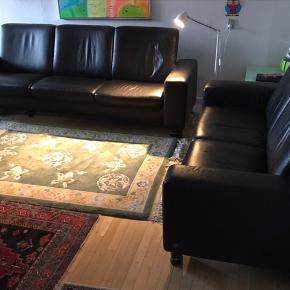 Stressles.3+2 ægte læder sofa. Eller sælges enkeltvis.