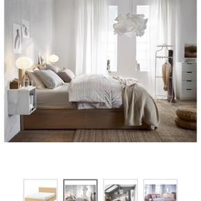 Sengeramme fra IKEA, 180X200, hvide skuffer under, nypris: 4500,- 6 mdr. Gammel, ubrugt, har stået i sommerhus. Kvittering haves. Afhentes på Amager strand. Tager kun mobilepay.