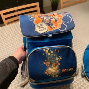 LEGO Skoletaske til skolestart. Brugt af 1 barn. Er i fin stand og har tilhørende gymnastiktaske, kølerum til madkasse samt smart nøgleholder.