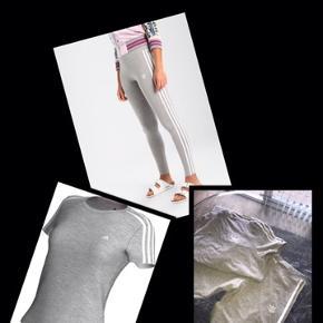 Næsten som nyt  Tights/leggings og matchende T-short