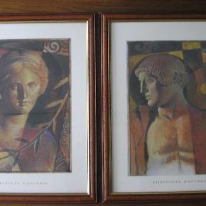 Euripides Kastaris - også kendt som RIP Kastaris - er en græsk/amerikansk kunstner.  Adonis Beta og Venus Beta fra midten af 1990'erne fåes her i højeste kvalitet kunstprint med flader med guldbelægning. Om det er litografier, kan jeg desværre ikke afgøre.  Motiverne måler 39 x 30 cm. Lysmål ca. 40 x 50 cm. Indrammet hos Galleri Lars Falk i 1998.  Skygge stregen over halsen på både Venus og Adonis på hhv. foto nr. 1 og nr. 2 - er en skyggestreg, fremkaldt af en vinduessprosse under fotograferingen.  Flotte & velholdte billeder - fra røgfrit hjem.  Sælges samlet - og prisen er den samlede pris for begge billeder.  Forsendelse inkl. professionel indpakning for købers regning. Billederne kan også afhentes i Frederikshavn