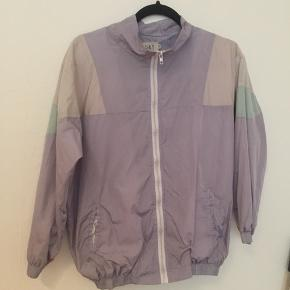 Pastelfarvet windbreaker jakke str M