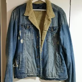 Brugt vintage Gabba jakke med uld. Byd.