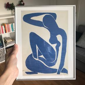 Matisse Neu Bleu poster with frame included (high quality from Posterland). Original price 450 dk. 24x30 cm