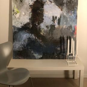 Nyt akryl maleri. 100 cm * 100 cm. Se tæt på, på de bagvedliggende fotos.   Eget design.