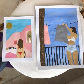 Håndlavede plakater🌿🖌  Sælges i forskellige størrelser (uden ramme)🖼  Jeg maler selv så de er costumizeable og man vælger selv motiv og str (dog med begrænsninger og variationer af pris)🛍❤️  Tjek mine andre annoncer ud!🤍🤍   Insta: @by.koenig