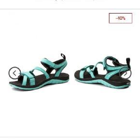Sandaler, brugt en gang undefor, men de er desværre ikke gode til mine fødder grundet operation.