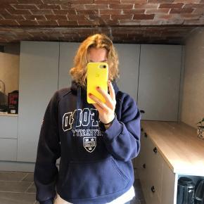 fed mørkeblå OXFORD hoodie  Str. s Byd