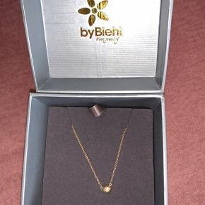 By Biehl Iris halskæde  14 karat guld og en ægte diamant