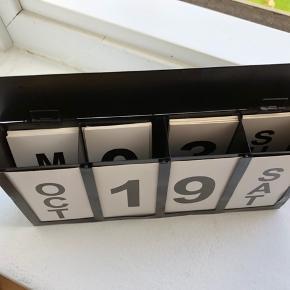 Kalender  Uendelig kalender hvor man selv kan skifte dato
