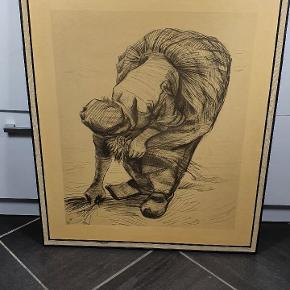 """Tryk af Van Gogh's """"bondekone samler Aks"""" skriv endelig ved spørgsmål 😀"""