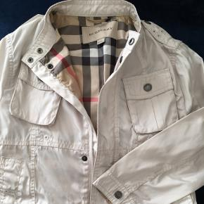 BURBERRY Taupe Check Detail Lightweight Jacket