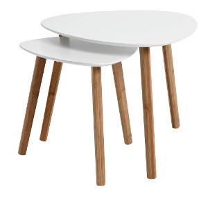 To TAPS borde fra Jysk. Det ene måler 40*40 cm og det andet måler 55*55 cm (sendes ikke)