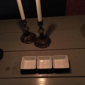 3 små skåle med træholder🌺
