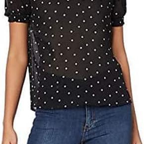 Sød bluse med prikker og korte ærmer 🌸 Str. S