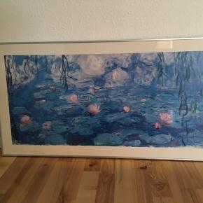 Flot og dekorativ plakat Claude Monet I aluramme  51 x 100 cm Sendes ikke.