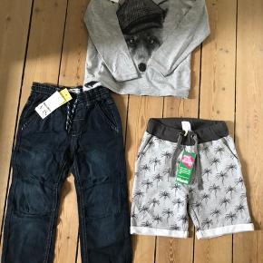 Name it bluse, Mads og Mette lange bukser og shorts fra friends samlet pris 110kr