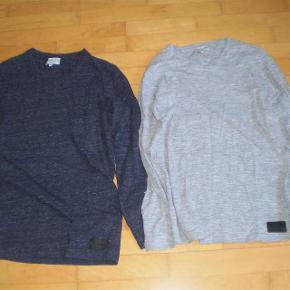 Varetype: Langærmede T-Shirt/Bluser Farve: Grå og gråblå Oprindelig købspris: 300 kr. Pr stk Sælges for 75kr. Plus Porto pr. Stk    Lækre bluser i super kvalitet.  Str. S