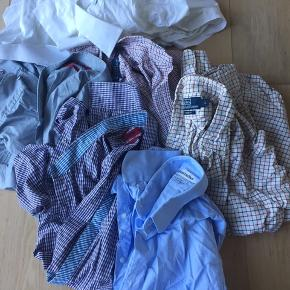 7 skjorter str L slim fit , 2 Polo by Ralph Lauren , 2 Hugo Boss, 2 Lundstrøms no bullshit , 1 skræddersyet  Samlet pris 950kr