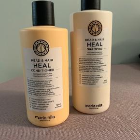 Maria Nila heal shampoo balsam sæt brugt 3 gange og passer desværre ik til mit hår. Np 458kr