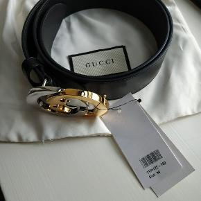 Gucci 4cm Black Full grain leather belt Med alt Str90