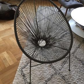 2 stk mørkegrå lounge have stole sælges pga flytning Samlet pris 400kr