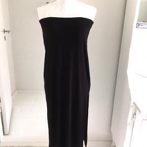 Sort, kjole, flot, god med brugt, str. Xl, gina tricot.